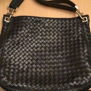 Authentic Bottega Veneta Black Leather Purse